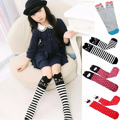 Kids Baby Toddlers Girls Knee High Socks Tights Leg Warmer Stockings For Age3-12