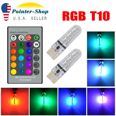 10X White T10 Wedge 5630 6SMD Canbus Error Free LED Light bulbs W5W 168 194