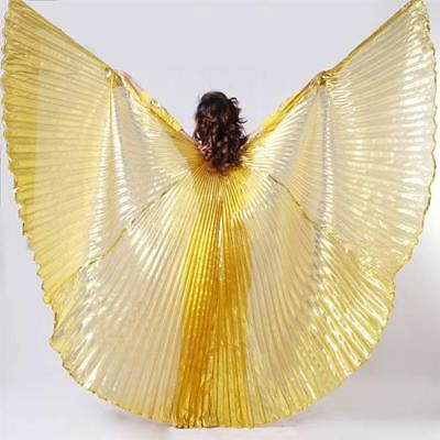 Egyptian Egypt Belly Dance Wear Costume Shining Isis Wings (NO STICKS) 5 Color