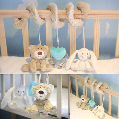 New Baby Kids Soft Plush Toy Animal Rattles Bed Crib Developmental Toy FJAU