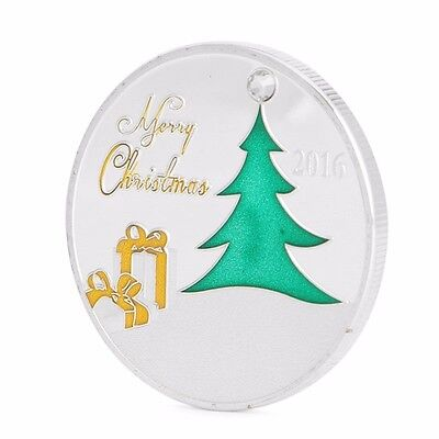 Silver Plated 2016 Commemorative Coin Merry Christmas Moon Deer Collectible Gift