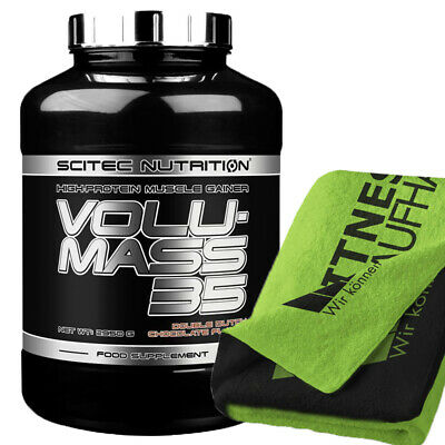 (16,10 EUR/kg) Scitec Nutrition Volumass 35 - 2950g Weight Gainer + Handtuch NEU