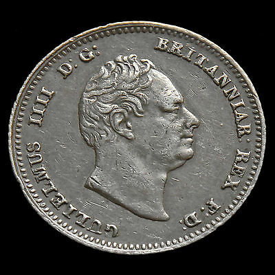 1836 William IV Milled Silver Fourpence / Groat