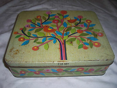 Rare Imperial Measure Arnott's 3lb Biscuit Birds in Tree Tapestry Tin