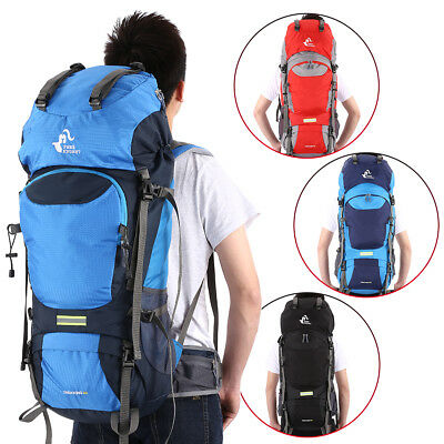 50L Outdoor Water Resistant Backpack Hiking Bag Camping Travel Mountaineering AU