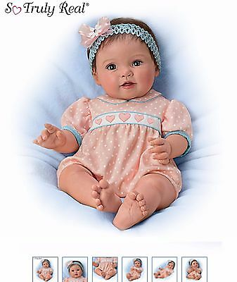 """Ashton Drake baby doll """"Littlest Sweetheart"""" - weighted and poseable"""