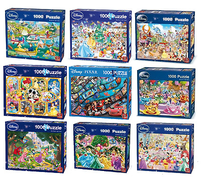 Disney 1000 Piece Jigsaw Puzzles Choice of 12 Official Cartoon Licensed Designs