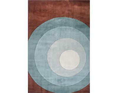 Momeni New Wave 82 Teal Area Rug Modern Contemporary Wool All Sizes