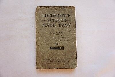 Locomotive Science Made Easy Railway Book by Oliver with Technical Diagrams
