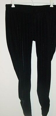 Motherhood Maternity Skinny black velvet leggings capri's pants stretch-L
