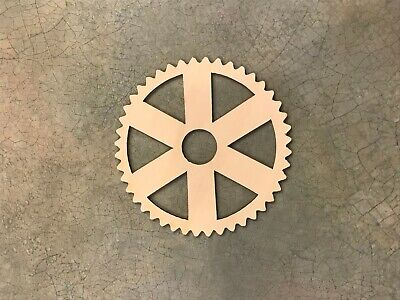 Set of 5 Wooden gears Unfinished Laser Cut Wood A007 Crafting Supplies