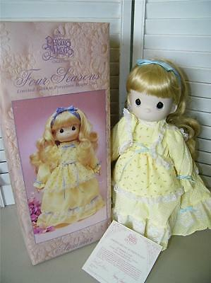 Vintage Enesco Precious Moments Summer Doll LARGE MIB Summer's Joy 7119 Yellow
