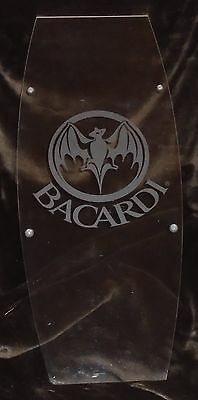 Rare Bacardi Branded Plexi Glass Bar Hanging Mancave Sign One Of A Kind