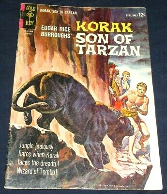 KORAK SON OF TARZAN 4,12,14 Gold Key 1964-66 Edgar Rice Burroughs! 3 issues