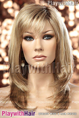 Natural Flowing Designer Wig Soft Blonde Regrowth Stacked :Jon Renau - Angelique