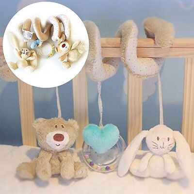 Newborn Baby Kid Animal Rattles Stroller Music Hanging Bell Toy Doll Soft Bed