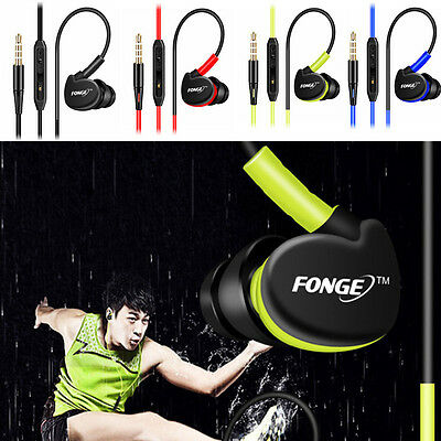 Sport Headphones Waterproof Earphones In Ear Earbuds HIFI Bass Headset With Mic