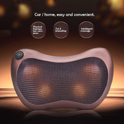 Car Home Pillow Lumbar Neck Full Body Electric Massage Cushion Physiotherapy 12V