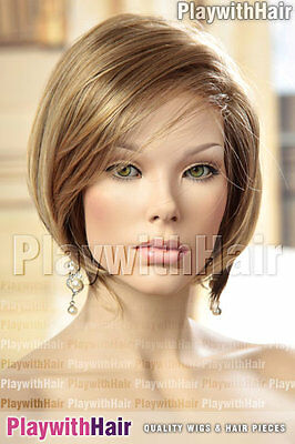 Super Sleek Lace Front Bob Wig Blonde Brown STACKED : Jon Renau - Nita