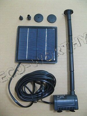 Solar Power Fountain Pump for Water Feature Fountain 160L/H Max Heads 0.8m ECO