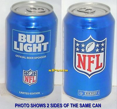 2016 Nfl Bud Light National Football League Kickoff Beer Can Pro-Sports Man Cave