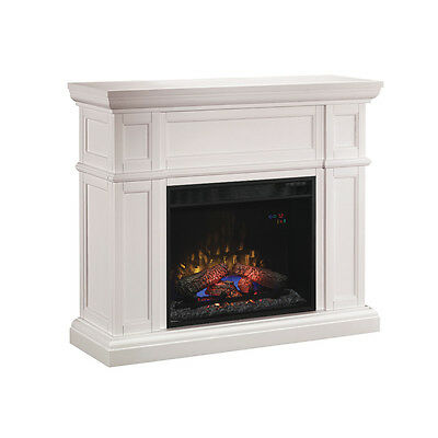 ClassicFlame 61693 White Artesian Wall Fireplace Mantel with 28-inch Infrared Qu