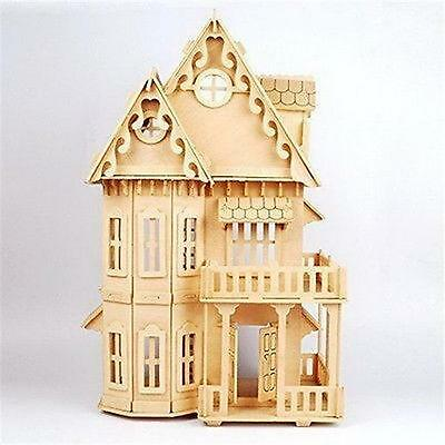Wooden Dream Dollhouse 6 Rooms DIY Kits Miniature Doll House Great for Gift S