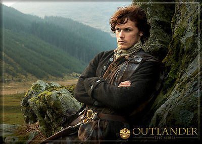 Outlander Photo Quality Magnet: Jamie Fraser (On Rocks) NEW!
