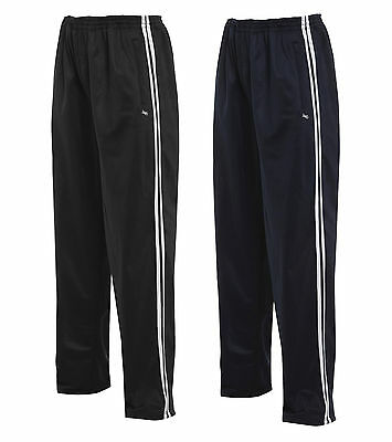 Boys Tracksuit Bottoms Tricot Striped Sports Trousers Black Navy 4-13 Years
