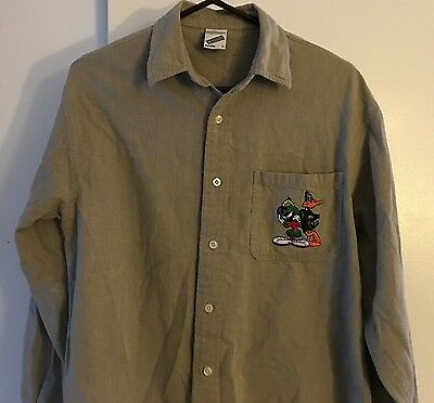 Marvin the Martian and Daffy Duck Warmer Bros. Store LS Collared shirt Adult S
