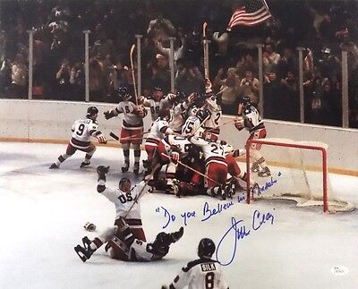 Jim Craig Signed USA 16x20 Photo Inscr. Do You Believe In Miracles JSA