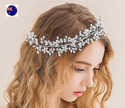 NEW Women Party dance Pearl Wedding Bride Melbourne Cup Hair Headband Headpiece