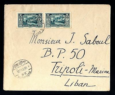 13558-LEBANON-OLD COVER BEYROUTH to TRIPOLI.1931.WWII.Liban.enveloppe.brief.