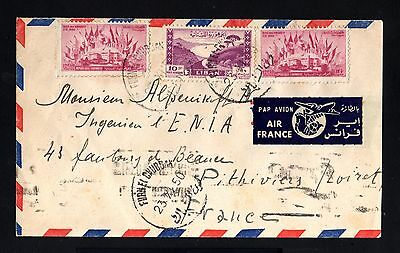13585-LEBANON-AIRMAIL COVER BEYROUTH to FRANCE.1950.Enveloppe Liban.LIBANO.