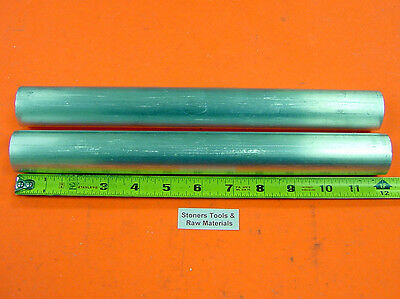 """2 Pieces 1-1/2"""" ALUMINUM ROUND 6061 ROD 12"""" LONG Solid T6511 BAR STOCK NEW 1.50"""""""