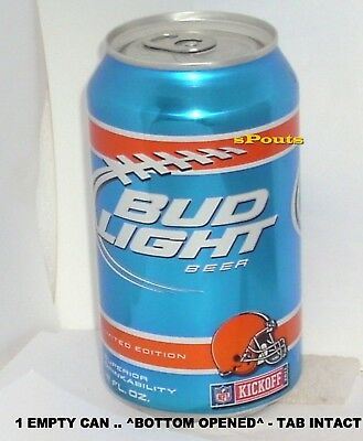 2011 Nfl Kickoff Cleveland Browns Football Bud Light Beer Can Oh Sports Man Cave