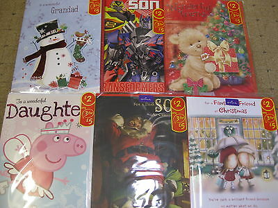 42 Mixed Christmas Cards Top Quality All Sizes Wholesale Job Lots Hallmark