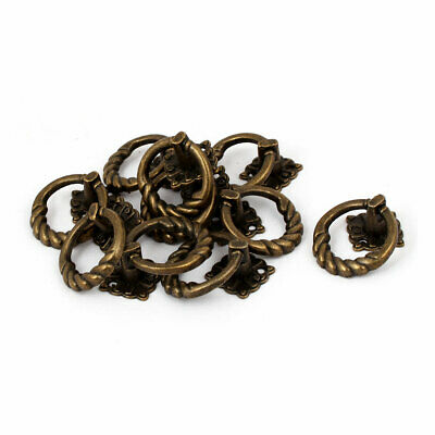 Cupboard Dresser Drawer Zinc Alloy Retro Style Pull Handle Ring 41x30x25mm 10pcs