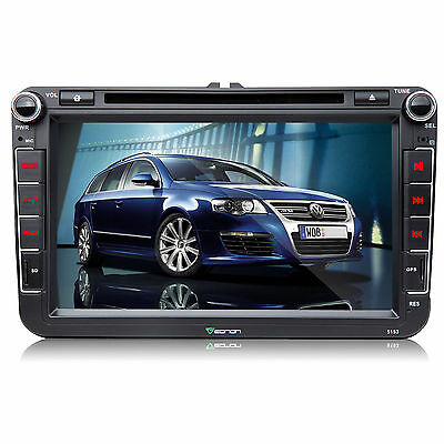 Super Large Touch Screen Car DVD Player GPS Stereo F For Volkswagen VW Golf EOS