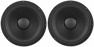 "2) Peavey Low Rider Black Widow 18"" 3200W/800W 4 Ohm DJ Sub Subwoofer Raw Driver"