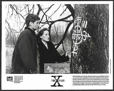 ☆ Sci-Fi The X-Files ORIGINAL 1995 Promo Photo David Duchovny Gillian Anderson