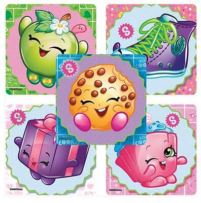 "30 Shopkins Stickers, 2.5""x2.5"" each, Party Favors"