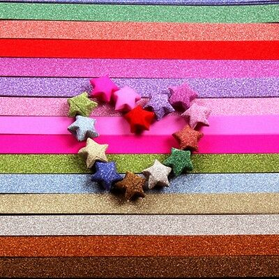 Lucky Star Origami Folding Paper Ribbon Wish Paper 7Color Shinny Star Strip Gift