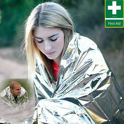 1.4X2.1m Foil Space Blanket Emergency Survival Blanket Thermal Rescue First Aid