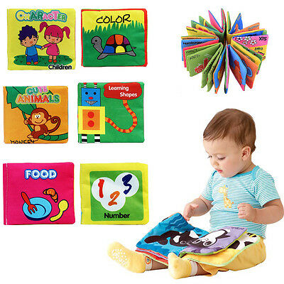 New Soft Cloth Baby Kids Intelligence Development Learning Picture Cognize Book