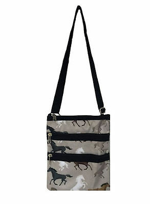 Horse & Western Travel School Horses Day Travel Or Cosmetics Bag Horses Print