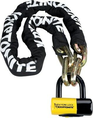 Kryptonite New York Fahgettaboudit Chain with NY Disc Lock 5ft. 720018-999492