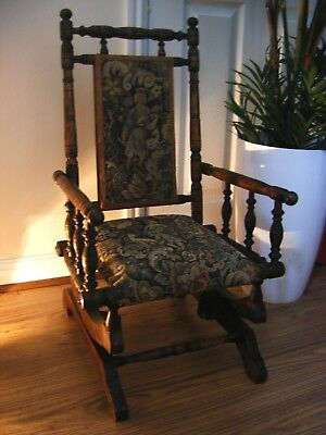 American Victorian Edwardian Childs  Rocking Chair  In Vgc For Age
