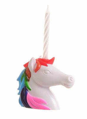 Magical Unicorn Birthday Candle Holder ~ Party Cake Decoration Kawaii Kitsch