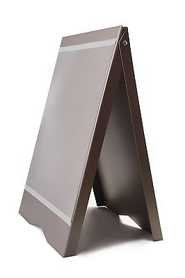 A-BOARD PAVEMENT SIGN MENU SANDWICH BOARD 81 x 53cm FOR A2 SIZE POSTERS GRAY